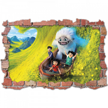 3D Sticker perete 60x90cm -Abominable