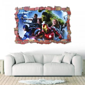 3D Sticker perete 60x90cm - Avengers 2