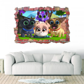 3D Sticker perete 60x90cm - Bingo & Rolly