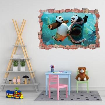 3D Sticker perete 60x90cm - Kung fu Panda3