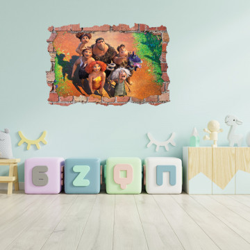 3D Sticker perete 60x90cm - Oamenii preistorici 2
