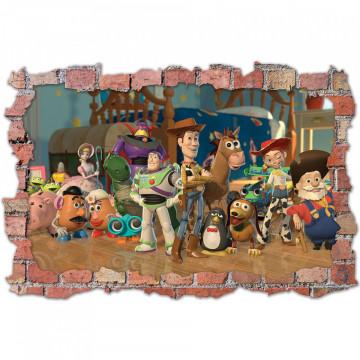 3D Sticker perete 60x90cm - Povestea Jucariilor