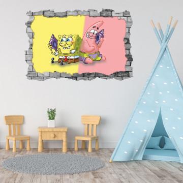3D Sticker perete 60x90cm -Spongebob