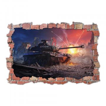 3D Sticker perete 60x90cm - World of Tanks 2