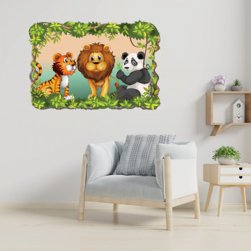 3D Sticker perete - Animale salbatice5