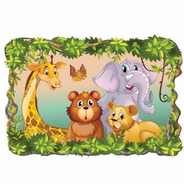 3D Sticker perete - Animale salbatice8