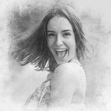 Canvas Personalizat - Efect Schita in creion