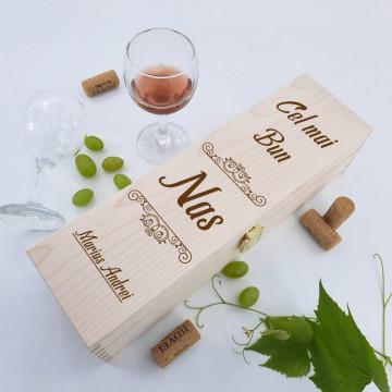 Cutie vin personalizata - Nume si mesaj