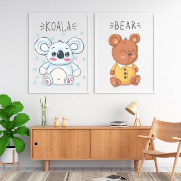 Set 2 tablouri - Ursuletii