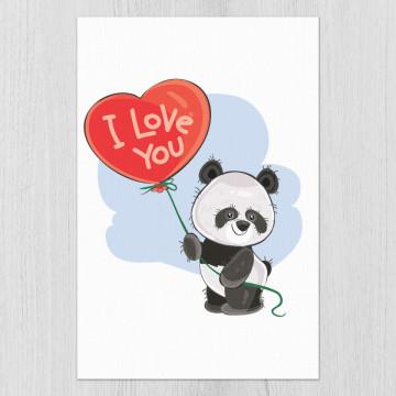 Set 3 tablouri - Ursuletii Panda iubitori