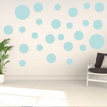 Set stickere decorative perete - Cercuri16, 60x60cm