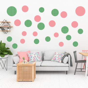 Set stickere decorative perete - Cercuri4, 60x60cm
