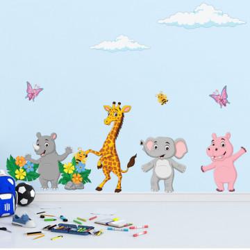 Set stickere decorative perete copii - Animalele Vesele1 , 60x90cm