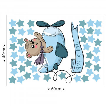 Set stickere decorative perete copii - It is a boy