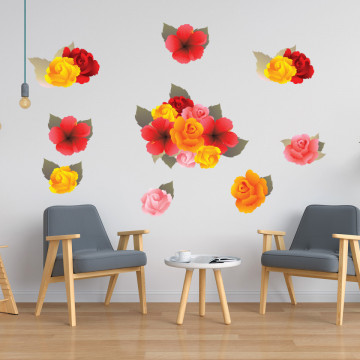 Set stickere decorative perete - Floricele, 60x90cm