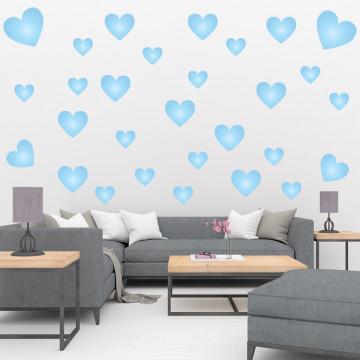 Set stickere decorative perete - Inimioare3, 60x60cm