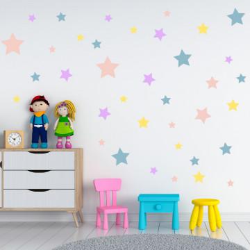 Set stickere decorative perete - Stelute 16, 60x60cm