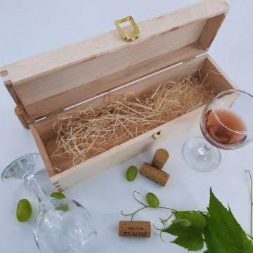 Sticla vin Personalizata - Poza, nume si doua texte