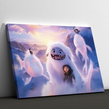 Tablou Canvas, Abominable printre nori