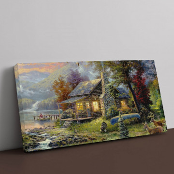 Tablou Canvas, Paradisul naturii de Thomas Kinkade