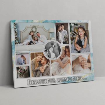Tablou Canvas personalizat cu poze si mesaj