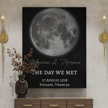 "Tablou Canvas personalizat ""Harta Stelelor"" - The day we met"