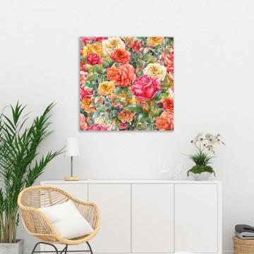 Tablou Canvas, Trandafiri colorati
