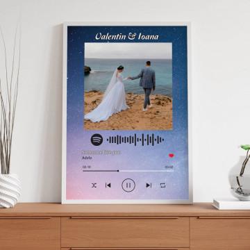 "Tablou personalizat ""Melodia noastra"", cod Spotify si nume"
