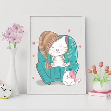 Tablou - Pisicuta pe fotoliu
