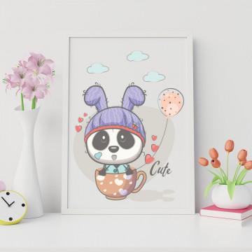 Tablou - Ursuletul panda cu cescuta