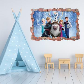 3D Sticker perete 60x90cm - Frozen 1