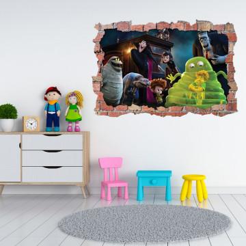 3D Sticker perete 60x90cm - Hotel Transilvania 2