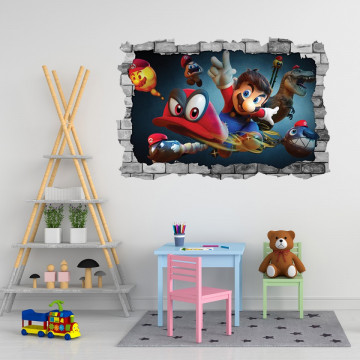 3D Sticker perete 60x90cm - Mario 2