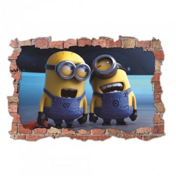 3D Sticker perete 60x90cm - Minions