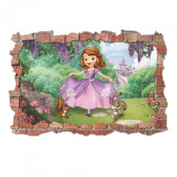3D Sticker perete 60x90cm - Printesa Sofia