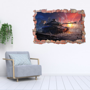 3D Sticker perete 60x90cm - World of Tanks 2