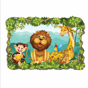 3D Sticker perete - Animale salbatice2
