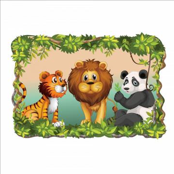 3D Sticker perete - Animale salbatice5