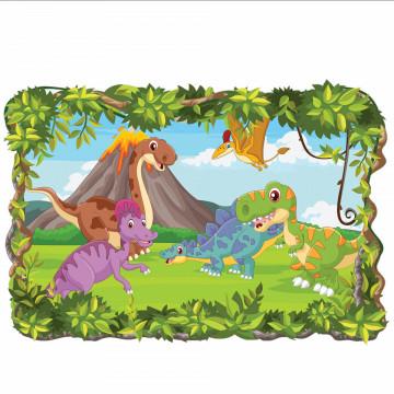 3D Sticker perete - Dinozaurii15