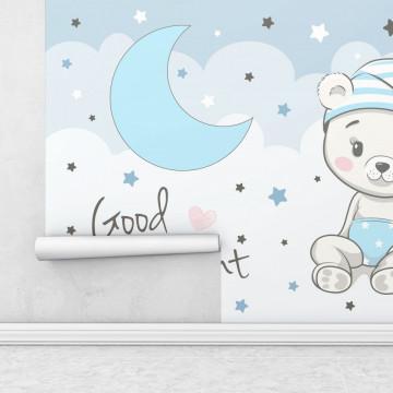 Fototapet autoadeziv copii - Ursuletul albastru