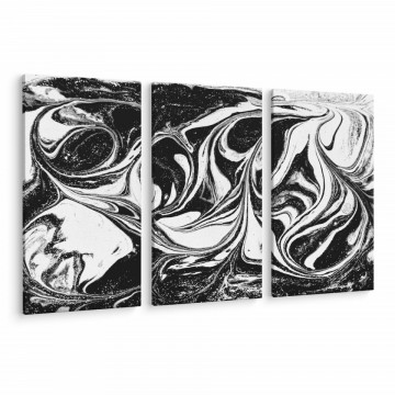 Set 3 Tablouri Canvas, Black & White