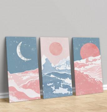 Set 3 Tablouri Canvas, The day