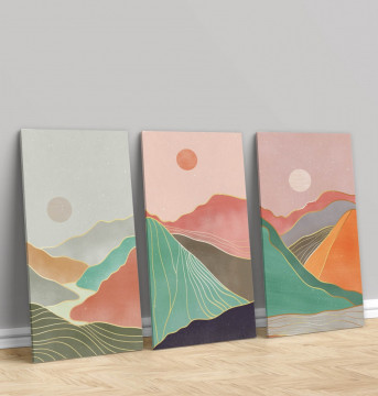 Set 3 Tablouri Canvas, The mountains