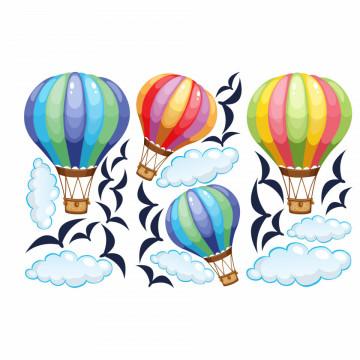 Set stickere decorative perete copii - Baloane cu aer2, 60x90 cm
