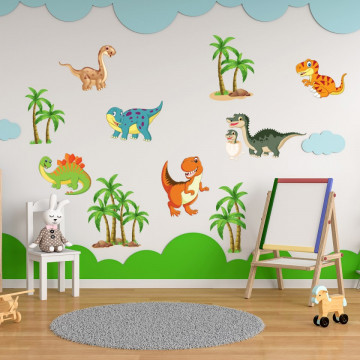 Set stickere decorative perete copii - Dinozauri 60x90cm