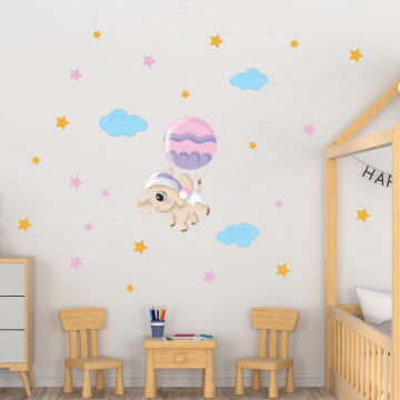 Set stickere decorative perete copii - Elefantul cu balon 40x60