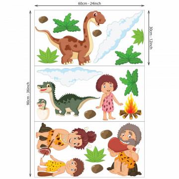 Set stickere decorative perete copii -Epoca Dinozaurilor5 , 60x90cm