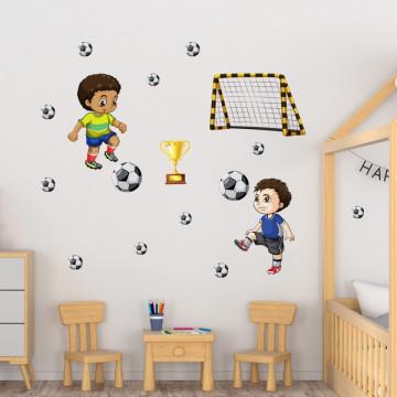 Set stickere decorative perete copii - Fotbal 60x90