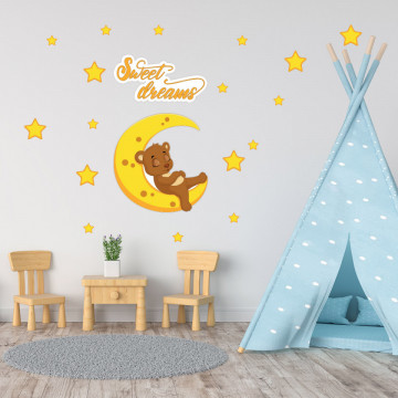 Set stickere decorative perete copii - Sweet dreams5 , 60x60 cm
