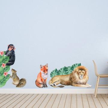 Set stickere decorative perete copii - Woodland1, 60x90cm